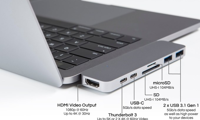 Macbookpro2016専用:USB-Cハブ(Thunderbolt 3)HyperDrive