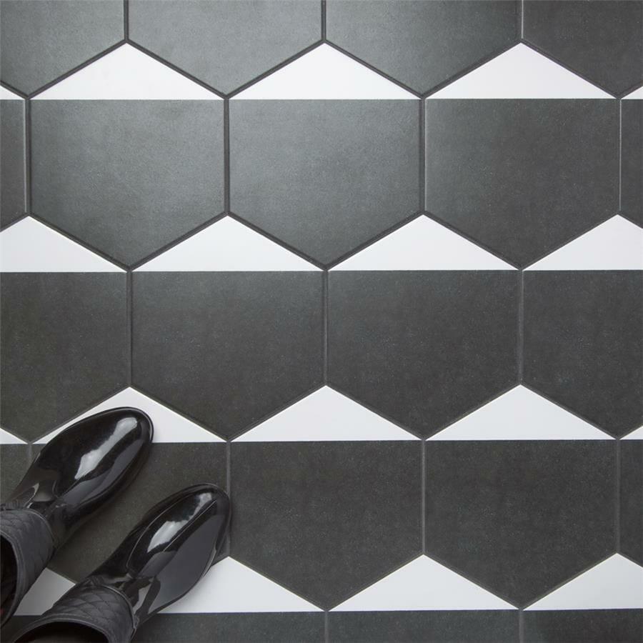 peak hexagon porcelain f w tile