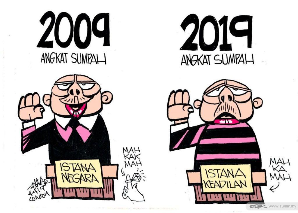 Cartoonkini Angkat SUmpah 4 April 2019