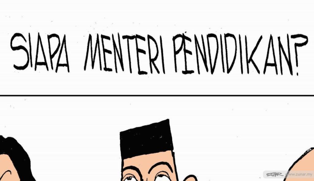 Cartoonkini Menteri Pendidikan 6 Jan 2020 - Copy (Custom)