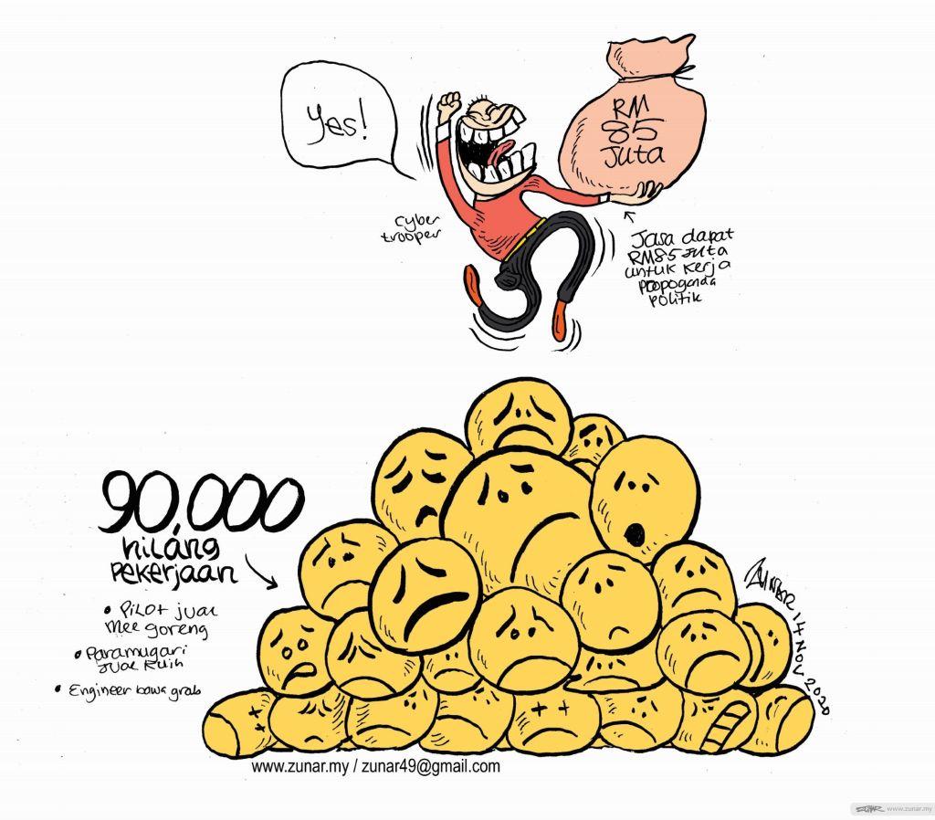 WEB Cartoonkini HILANG KERJA 14 Nov 2020 (Custom)