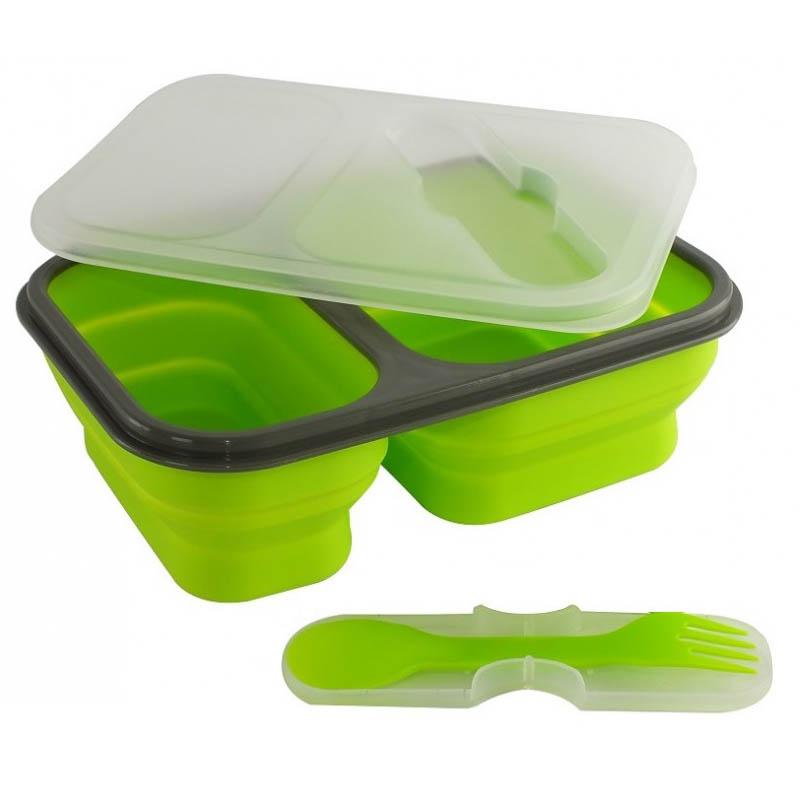boite a repas pliable avec 2 compartiments vert