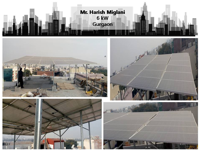 Solar in Gurgaon–Mr. Harish Miglani –Happy ZunRoof Client!