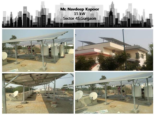 Solar in Gurgaon–Mr. Navdeep Kapoor –Happy ZunRoof Client!