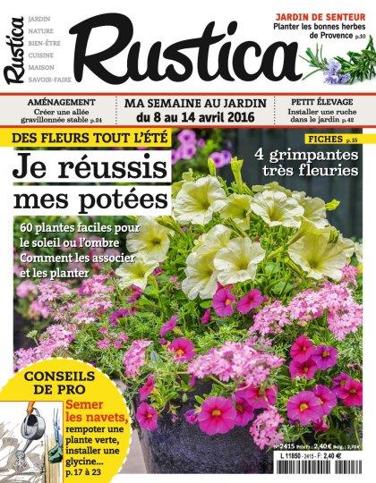 Rustica N°2415 du 8 au 14 Avril 2016