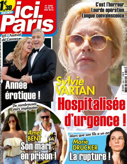 Ici Paris N°3698 du 18 au 24 Mai 2016