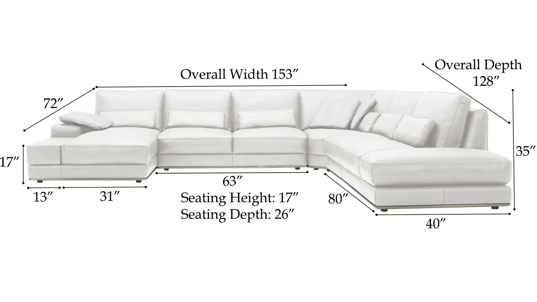 Chaise Sofa Dimensions Thesecretconsul Com  sc 1 st  Centerfieldbar.com : sectional sofas dimensions - Sectionals, Sofas & Couches