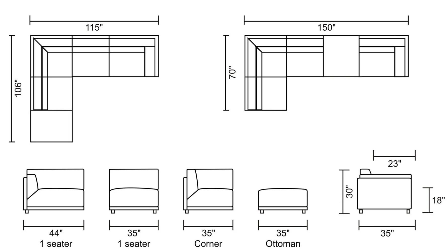 Nyle Denim Blue Fabric Sofa Bed With Chrome Legs