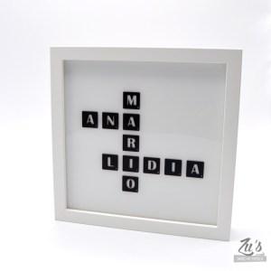 Cuadro de luz Scrabble