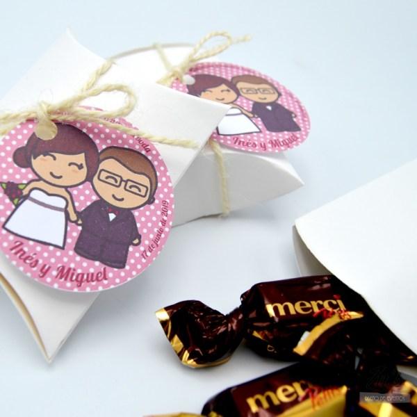 caja bombones boda