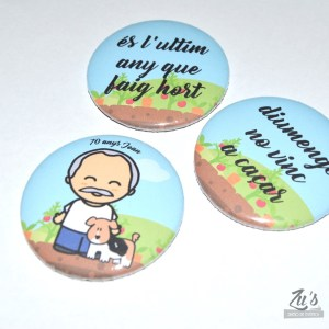 Chapas personalizadas (abrebotellas o espejo)