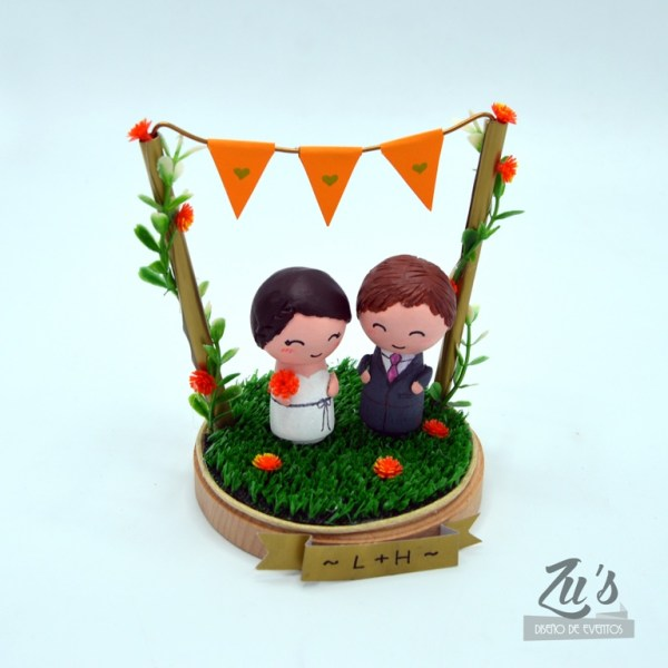 topper madera boda