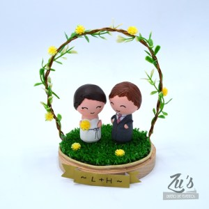 Topper tarta de boda Muñecos de madera personalizados