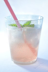 Refreshingly Icy Peach Prosecco Spritzer