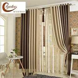 byetee coreenne solide rideau de lin de couleur ombre tissu coton rideaux salon rideau chambre termine rideaux sur mesure