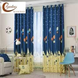 byetee bleu imprime de bande dessinee chambre fenetre rideaux tissus rideaux pour enfants cortinas infantiles garcon enfants bay rideaux