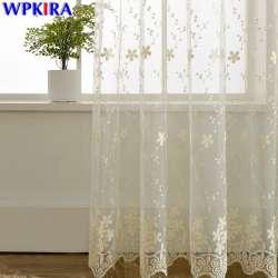 dentelle rideau sheer brode tulle rideaux salon chambre fenetre rideau panneaux filles rose blanc bleu rideau tulle 30