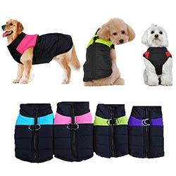 s 5xl 8 taille disponible chien vetements manteau impermeable pour animaux de compagnie chien chiot gilet pubby veste chien impermeable chaud d hiver