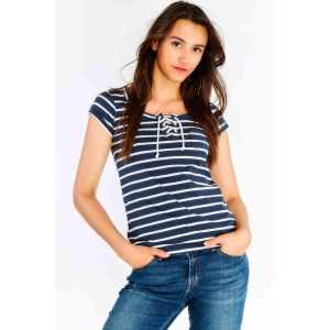 hailys_damen_shirt_FLOREEN-NAVY STRIPES_43148_1