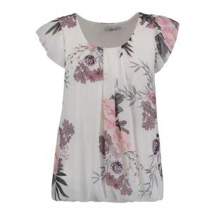 HAILYS Damen Bluse Top NELLIE offwhite Flügelärmel Blumen Viskose Art.Nr. DF-3018-18