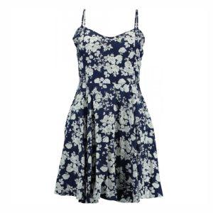 Hailys Kleid Victoria Blumen Navy Damen Blumenprint Viskose Art. HF-1708033