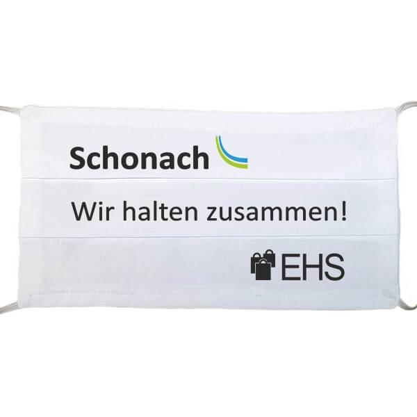 """Gesichtsmaske wiederverwendbar Spruch mit """"Schonach - Wir halten zusammen"""" aus Schonach im Schwarzwald"""