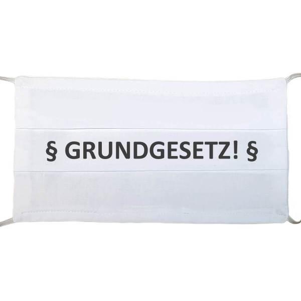 """Gesichtsmaske zur Demo, wiederverwendbar Druck mit """"GRUNDGESETZ"""" aus Schonach im Schwarzwald"""