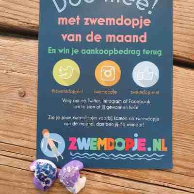 zwemdopjes met glitters van zwemdopje.nl