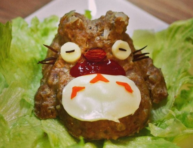 totoro shaped food