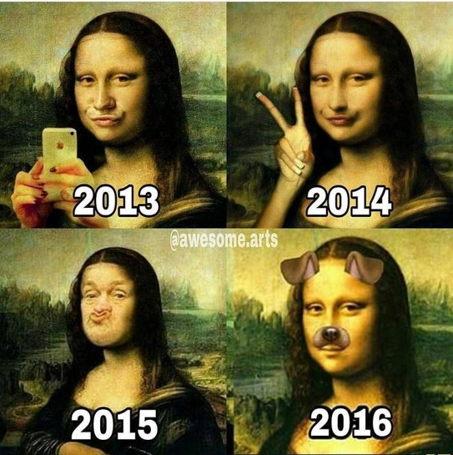 selfie evolution