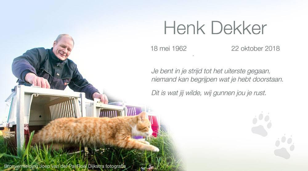 7339ca1db4c Henk heeft ons opgedragen om vooral door te gaan met het mooie werk voor de  zwerfkatten. In gedachten zal hij met ons mee blijven gaan.