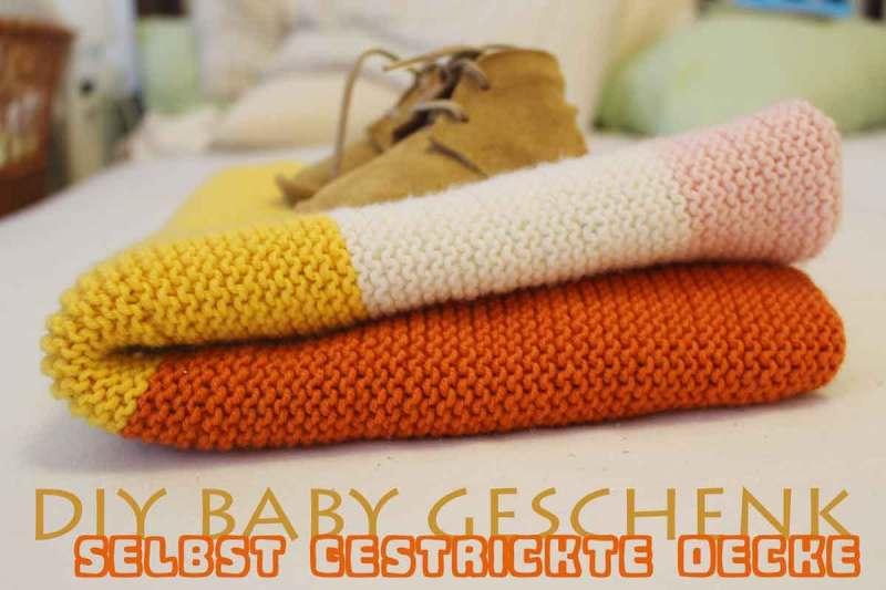 diy: einfache babydecke stricken - tutorial