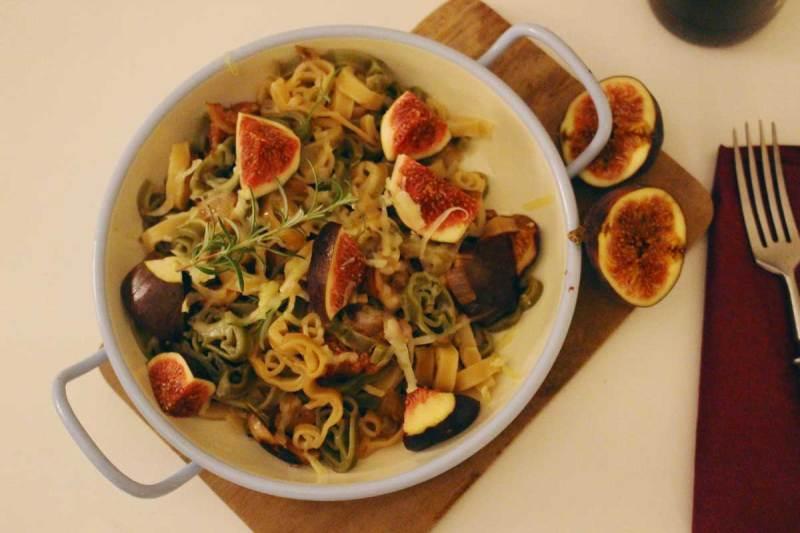 herbstgericht: pasta mit steinpilzen & feigen