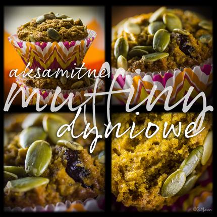 z widokiem na stol   muffiny dyniowe