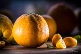 z widokiem na stół   galette z pomarańczami