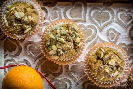 z widokiem na stół | muffiny pomarańczowo-bananowe • no waste •