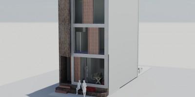 Coendersbuurt architect kavel tussenwoning ontwerp