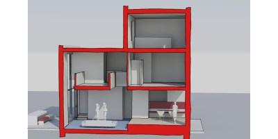 Coendersbuurt kavel architect doorsnede