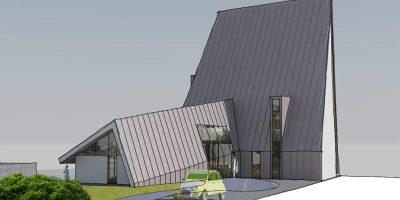 architect kavel special waterrijk woerden villa entree