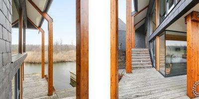 kavel architect moderne woning villa leisteen