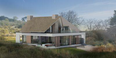 moderne villa luxe woning duinen rieten kap architect modern living luxury