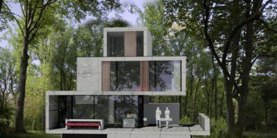 Aan de kreek almere duin kavel bosvilla architect moderne villa