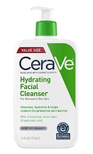 CeraVe Hydrating Facial Cleanser for dry to normal skin