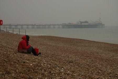 Gloomy Brighton Beach