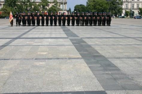 Police parade, Plac Pilsudskiego, Warsaw