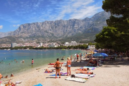 Plaża w Makarska Chorwacja