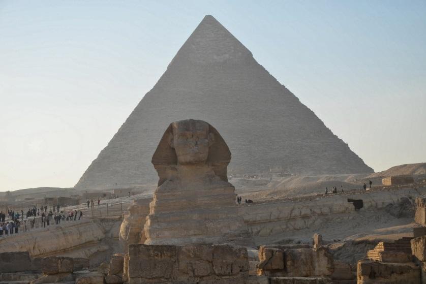 Sfinks i Piramidy w Gizie Egipt