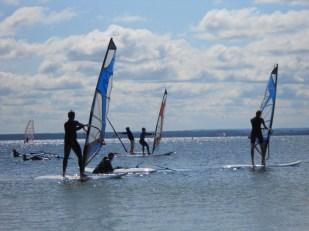 Pierwsze wyścigi windsurfingowe w Zatoce Puckiej