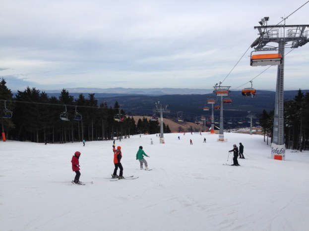 Zieleniec zjazd na nartach