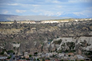 Kapadocja Goreme i widok na wulkan Turcja